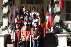 In December, International alumni graduates reception at the Brackenridge Villa-11 international alums who graduated in December joined us for an international alumni mixer to wish them well in their future endeavors.