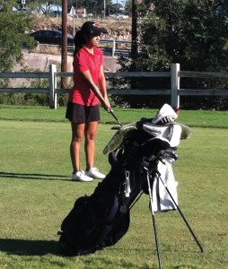 Lizeth Escobedo on the course at the UIW Fall Invitational.
