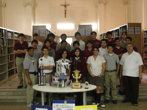 Vasquez with the BEST Club (Boosting Engineering Science and Technology) during his senior year at SACHS. The club competed and won first place by constructing a robot from selected equipment.