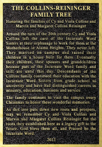 Reininger Family Plaque