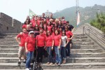Nursing and pharmacy students and faculty members pose at the Great Wall of China in Summer 2012.