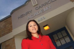 "Alumna Alejandra ""Ale"" Barraza, principal of SAISD's Carroll Early Childhood Education Center."