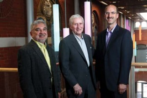 (L-R) Miguel Cortinas, Robert Seddon and William Gokelman.