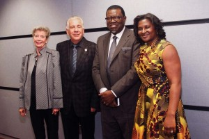 (Pictured L-R) Mickey and Dr. Louis Agnese, Jr. share a photo with President of the Republic of Namibia Dr. Hage Geingob and his wife Monica Kalondo.