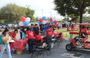 The UIW community lines up to participate in National Night Out.