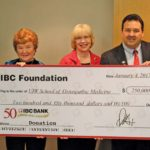 IBC Bank presents $250,000 to the School of Osteopathic Medicine