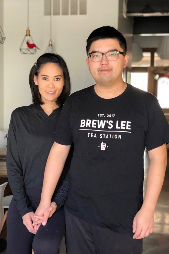 Frances and Billy Lee at Brew's Lee Tea.