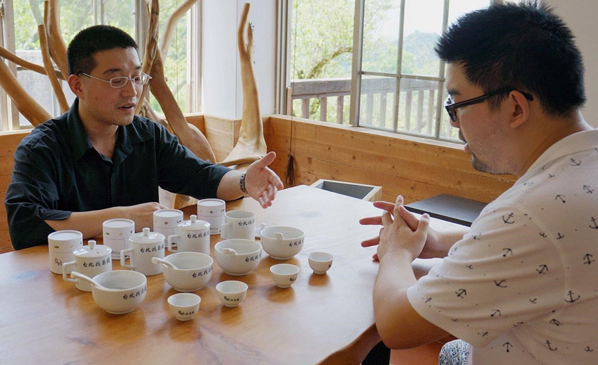 Billy Lee studying the art of tea brewing. Photo courtesy of Brew's Lee.