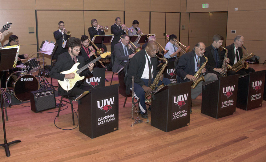The UIW Cardinal Jazz Band puts on a great show.