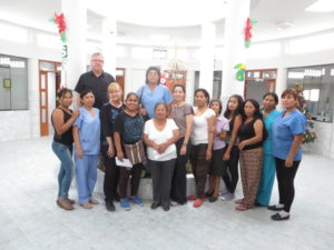 Dr. Senne-Duff with hospice staff in Chimbote, Peru.
